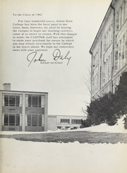 Page 7, 1962 Edition, Salem State University - Clipper Yearbook online yearbook collection