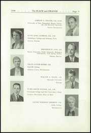 Page 13, 1948 Edition, Thayer Academy - Black and Orange Yearbook (Braintree, MA) online yearbook collection