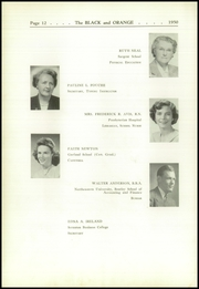 Page 16, 1950 Edition, Thayer Academy - Black and Orange Yearbook (Braintree, MA) online yearbook collection