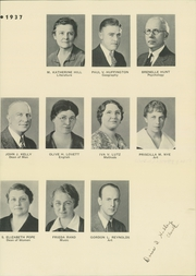 Page 17, 1937 Edition, Bridgewater State University - Alpha Yearbook (Bridgewater, MA) online yearbook collection