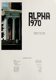 Page 5, 1970 Edition, Bridgewater State University - Alpha Yearbook (Bridgewater, MA) online yearbook collection