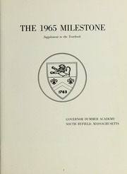 Page 5, 1965 Edition, Governors Academy - Milestone Yearbook (Byfield, MA) online yearbook collection