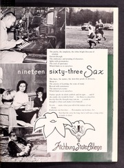 Page 5, 1963 Edition, Fitchburg State University - Saxifrage Yearbook (Fitchburg, MA) online yearbook collection