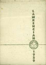 1959 Edition, Lawrence Academy - Lawrencian Yearbook (Groton, MA)