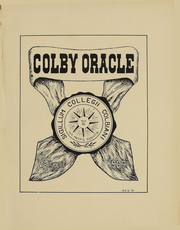 Page 2, 1909 Edition, Colby College - Oracle Yearbook (Waterville, ME) online yearbook collection