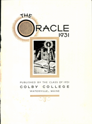Page 5, 1931 Edition, Colby College - Oracle Yearbook (Waterville, ME) online yearbook collection