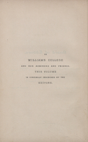 Page 9, 1884 Edition, Williams College - Gulielmensian Yearbook (Williamstown, MA) online yearbook collection