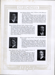 Page 16, 1924 Edition, Williams College - Gulielmensian Yearbook (Williamstown, MA) online yearbook collection