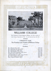 Page 8, 1924 Edition, Williams College - Gulielmensian Yearbook (Williamstown, MA) online yearbook collection
