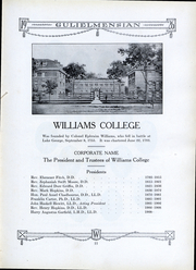 Page 10, 1926 Edition, Williams College - Gulielmensian Yearbook (Williamstown, MA) online yearbook collection