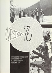 Page 5, 1976 Edition, Winchendon School - Vestigia Yearbook (Winchendon, MA) online yearbook collection