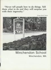 Page 5, 1986 Edition, Winchendon School - Vestigia Yearbook (Winchendon, MA) online yearbook collection
