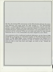 Page 6, 1986 Edition, Winchendon School - Vestigia Yearbook (Winchendon, MA) online yearbook collection