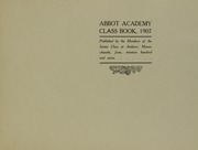 Page 5, 1907 Edition, Abbot Academy - Circle Yearbook (Andover, MA) online yearbook collection