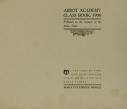 Page 5, 1908 Edition, Abbot Academy - Circle Yearbook (Andover, MA) online yearbook collection