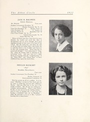 Page 11, 1922 Edition, Abbot Academy - Circle Yearbook (Andover, MA) online yearbook collection