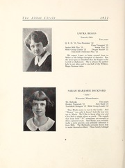 Page 12, 1922 Edition, Abbot Academy - Circle Yearbook (Andover, MA) online yearbook collection
