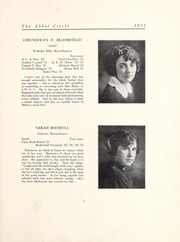 Page 13, 1922 Edition, Abbot Academy - Circle Yearbook (Andover, MA) online yearbook collection