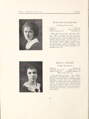 Page 22, 1922 Edition, Abbot Academy - Circle Yearbook (Andover, MA) online yearbook collection