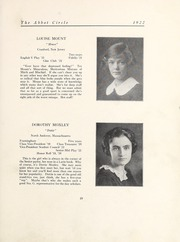 Page 25, 1922 Edition, Abbot Academy - Circle Yearbook (Andover, MA) online yearbook collection