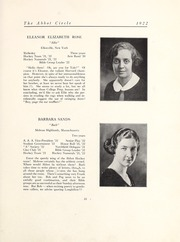 Page 29, 1922 Edition, Abbot Academy - Circle Yearbook (Andover, MA) online yearbook collection