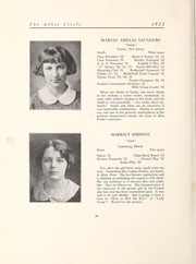 Page 30, 1922 Edition, Abbot Academy - Circle Yearbook (Andover, MA) online yearbook collection