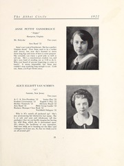 Page 31, 1922 Edition, Abbot Academy - Circle Yearbook (Andover, MA) online yearbook collection