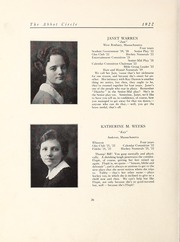 Page 32, 1922 Edition, Abbot Academy - Circle Yearbook (Andover, MA) online yearbook collection
