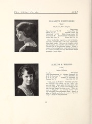 Page 34, 1922 Edition, Abbot Academy - Circle Yearbook (Andover, MA) online yearbook collection