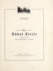 Page 7, 1922 Edition, Abbot Academy - Circle Yearbook (Andover, MA) online yearbook collection