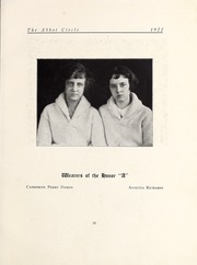 Page 77, 1922 Edition, Abbot Academy - Circle Yearbook (Andover, MA) online yearbook collection