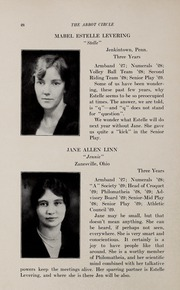 Page 32, 1929 Edition, Abbot Academy - Circle Yearbook (Andover, MA) online yearbook collection