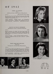 Page 19, 1942 Edition, Abbot Academy - Circle Yearbook (Andover, MA) online yearbook collection