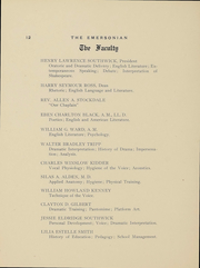Page 13, 1911 Edition, Emerson College - Emersonian Yearbook (Boston, MA) online yearbook collection
