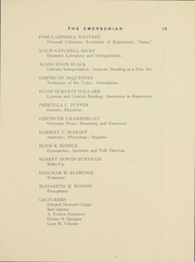 Page 14, 1911 Edition, Emerson College - Emersonian Yearbook (Boston, MA) online yearbook collection