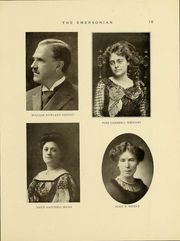 Page 16, 1911 Edition, Emerson College - Emersonian Yearbook (Boston, MA) online yearbook collection