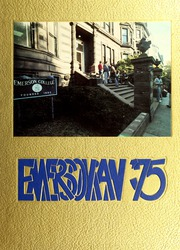 Emerson College - Emersonian Yearbook (Boston, MA) online yearbook collection, 1975 Edition, Page 1