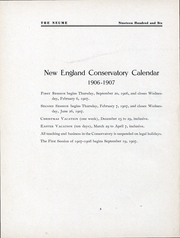 Page 6, 1906 Edition, New England Conservatory of Music - Neume Yearbook (Boston, MA) online yearbook collection