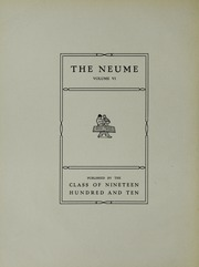 Page 8, 1910 Edition, New England Conservatory of Music - Neume Yearbook (Boston, MA) online yearbook collection