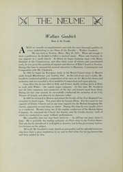 Page 12, 1926 Edition, New England Conservatory of Music - Neume Yearbook (Boston, MA) online yearbook collection