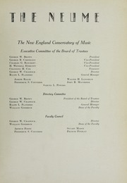 Page 13, 1928 Edition, New England Conservatory of Music - Neume Yearbook (Boston, MA) online yearbook collection