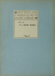 Page 2, 1932 Edition, New England Conservatory of Music - Neume Yearbook (Boston, MA) online yearbook collection