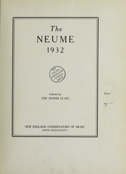 Page 7, 1932 Edition, New England Conservatory of Music - Neume Yearbook (Boston, MA) online yearbook collection