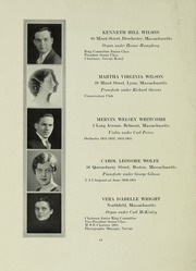 Page 14, 1933 Edition, New England Conservatory of Music - Neume Yearbook (Boston, MA) online yearbook collection