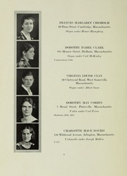 Page 6, 1933 Edition, New England Conservatory of Music - Neume Yearbook (Boston, MA) online yearbook collection