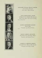 Page 8, 1933 Edition, New England Conservatory of Music - Neume Yearbook (Boston, MA) online yearbook collection