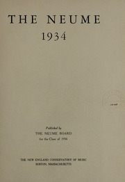 Page 5, 1934 Edition, New England Conservatory of Music - Neume Yearbook (Boston, MA) online yearbook collection