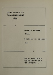 Page 31, 1946 Edition, New England Conservatory of Music - Neume Yearbook (Boston, MA) online yearbook collection