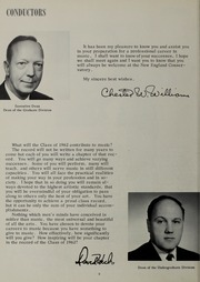Page 12, 1962 Edition, New England Conservatory of Music - Neume Yearbook (Boston, MA) online yearbook collection
