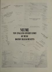 Page 5, 1962 Edition, New England Conservatory of Music - Neume Yearbook (Boston, MA) online yearbook collection
